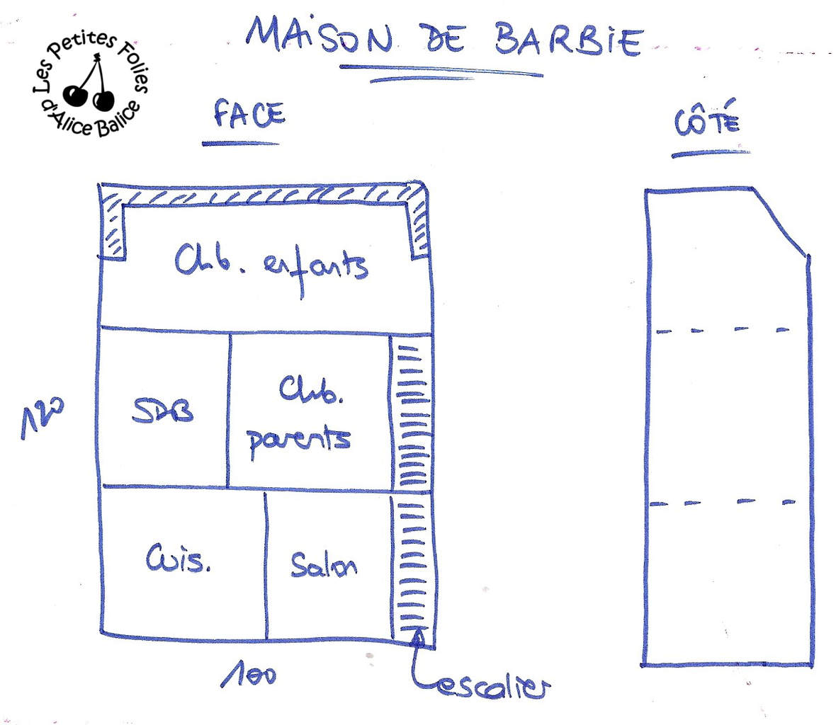 plan maison barbie