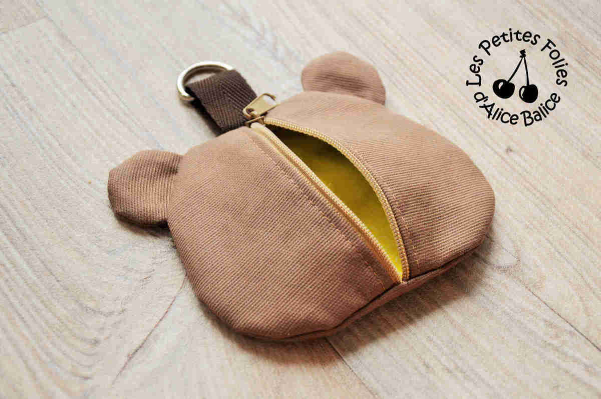 Range-tétine | bébé | puériculture | couture | patron couture | Creenfantin | ours | ourson