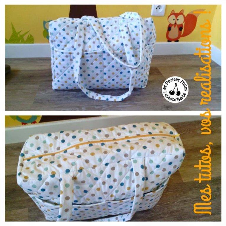 Tuto couture mon sac langer f tiche le plus cousu de - Patron sac en papier ...