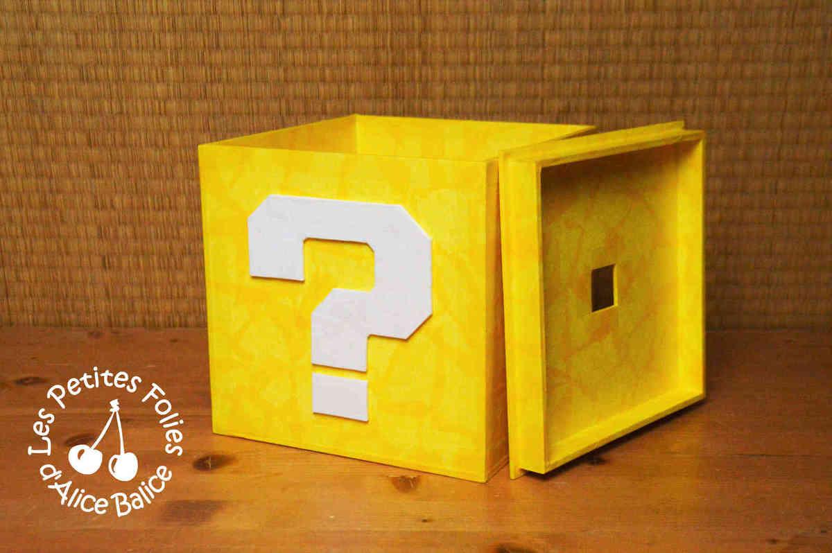 Super Mario Bros | boîte de rangement | carton plume | jeux video | DIY