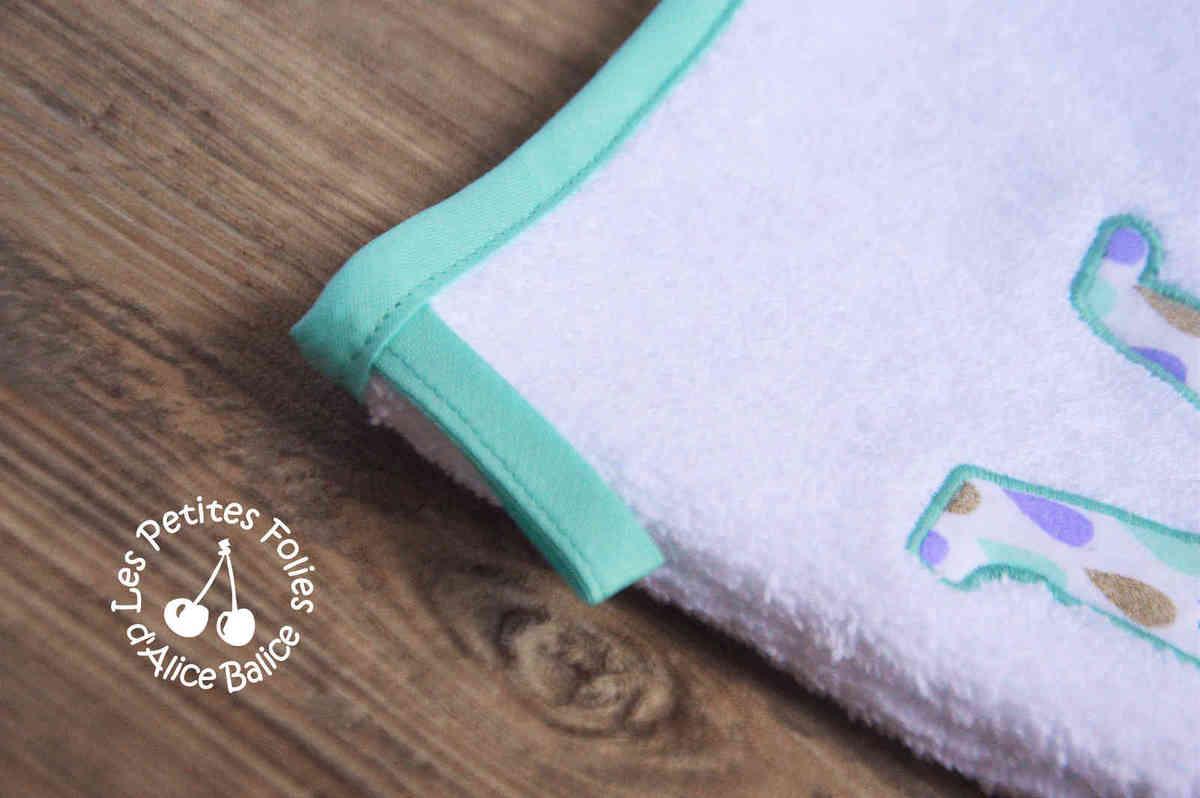 Gant de toilette | semainier | appliqué | couture | sewing