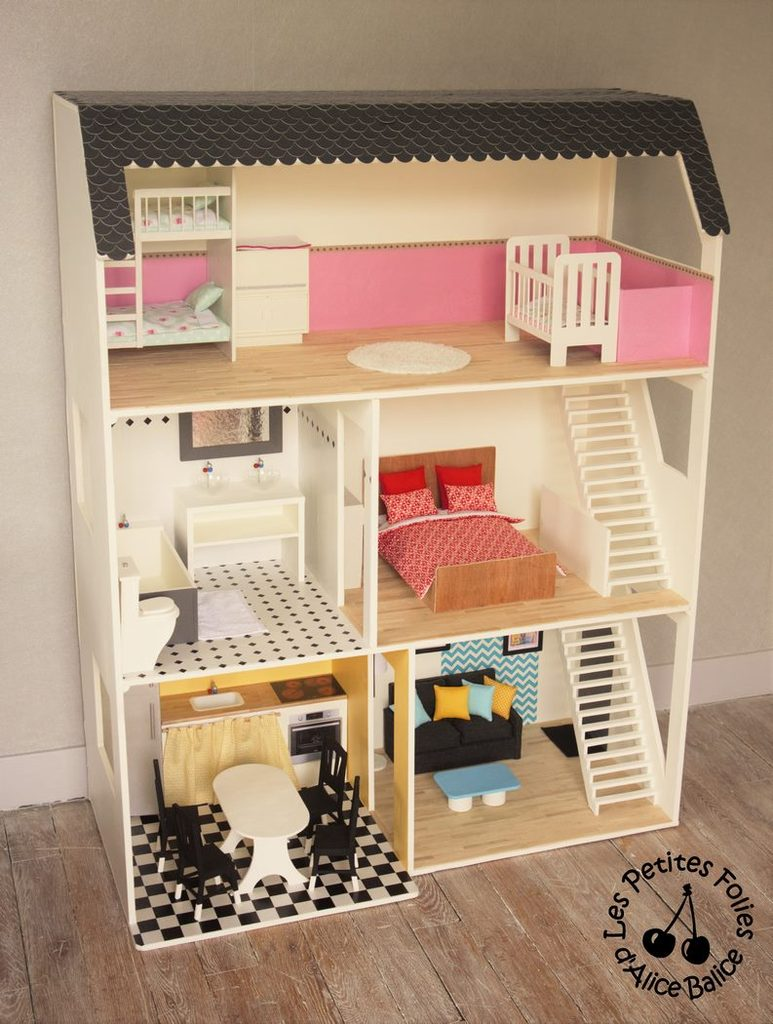 maison de barbie 5 les meubles cuisine et salon alice balice couture et diy loisirs. Black Bedroom Furniture Sets. Home Design Ideas