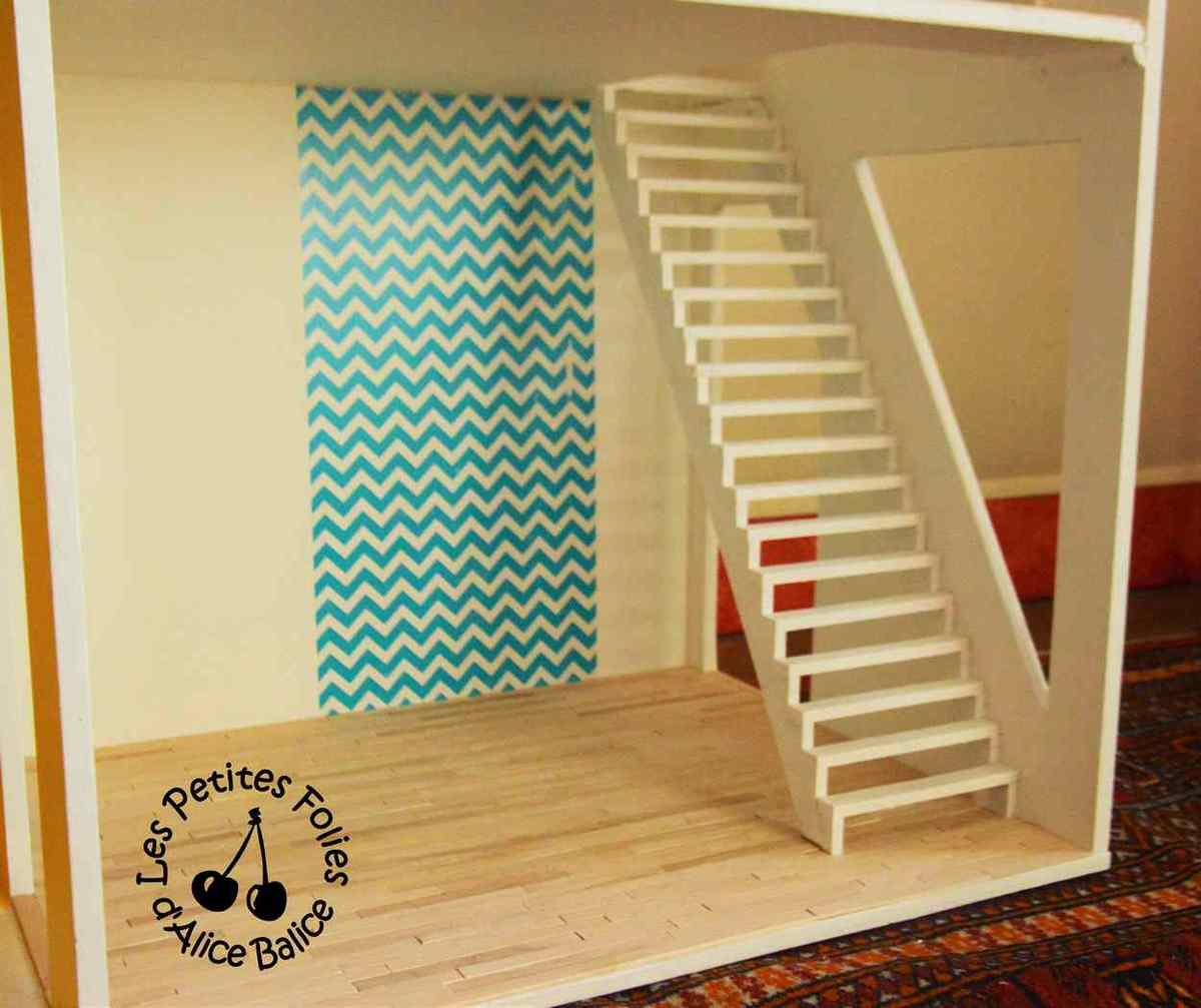 Maison de poupée Barbie | DIY | Doll house | 1/16 ème | escalier
