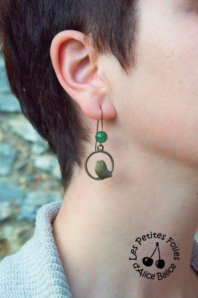 Bijoux | DIY | oiseaux | boucles d'oreilles