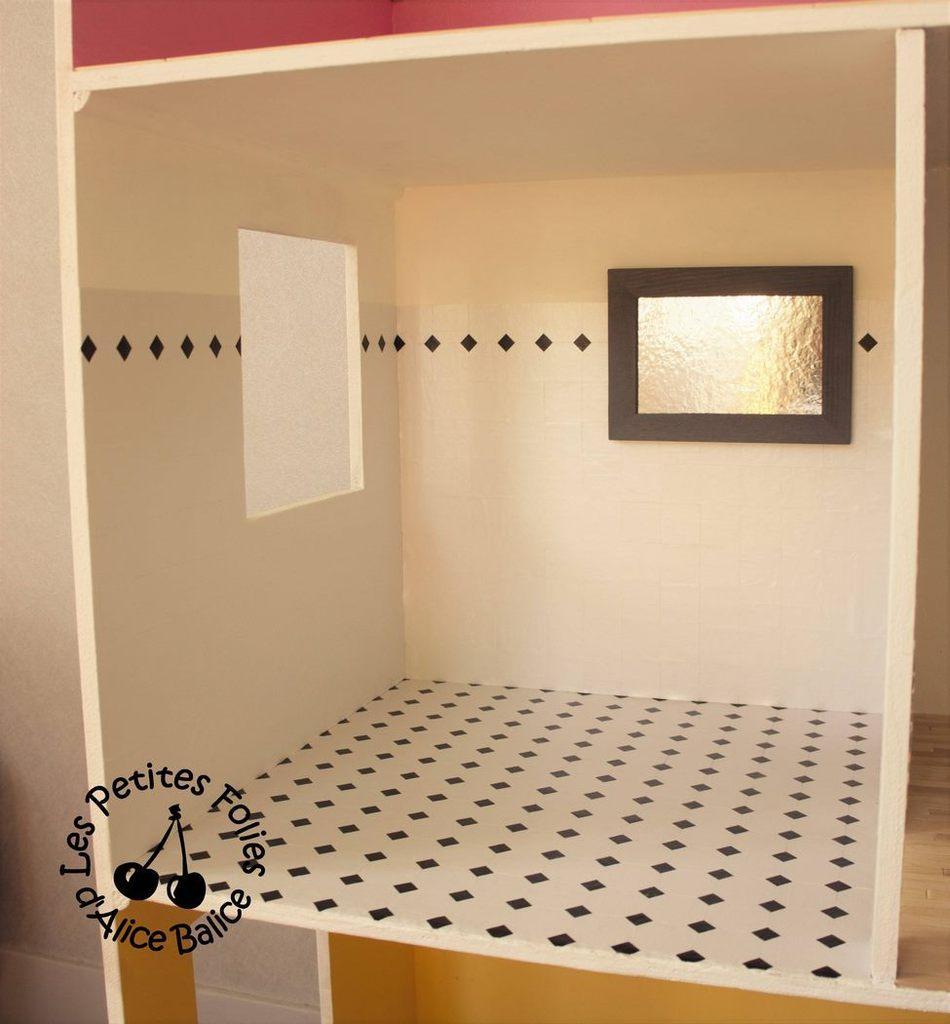 maison de barbie 4 fin de la d coration et escalier alice balice couture et diy. Black Bedroom Furniture Sets. Home Design Ideas