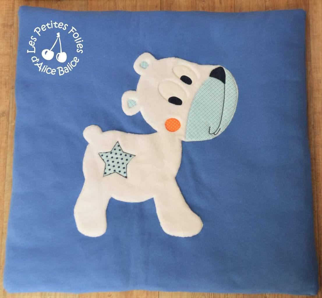 Tapis de jeu | bébé | puériculture | couture | créenfantin | ours polaire | ours blanc | chien