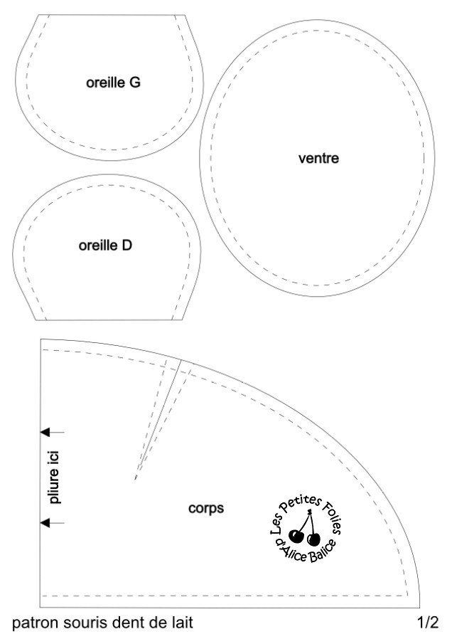 Souris dent de lait | diy couture | patron couture gratuit | facile