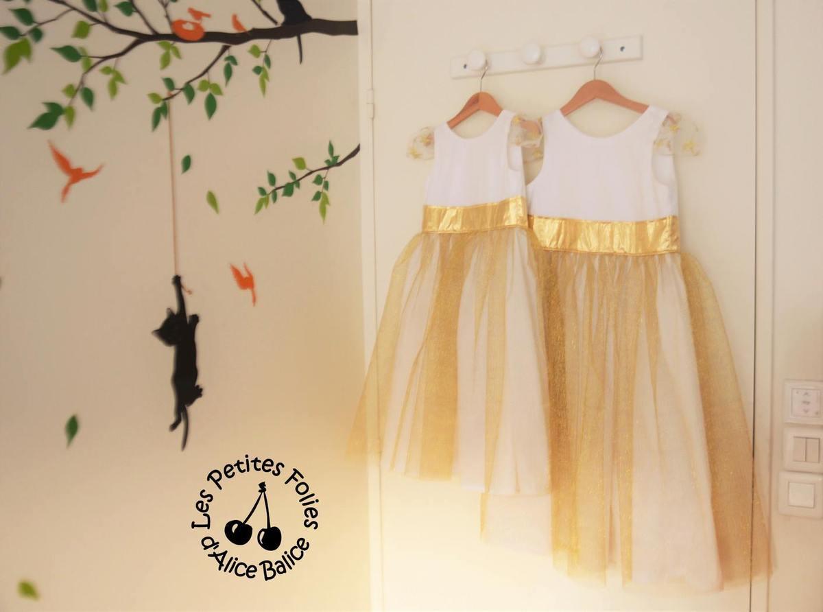 Patron gratuit robe de princesse petite fille