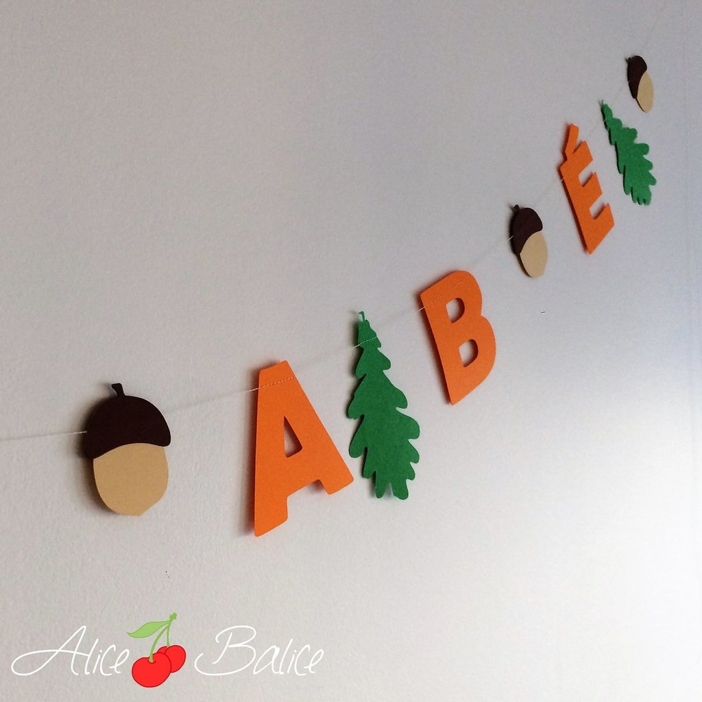 alice balice | anniversaire | thème forêt renard sapins automne | guirlande
