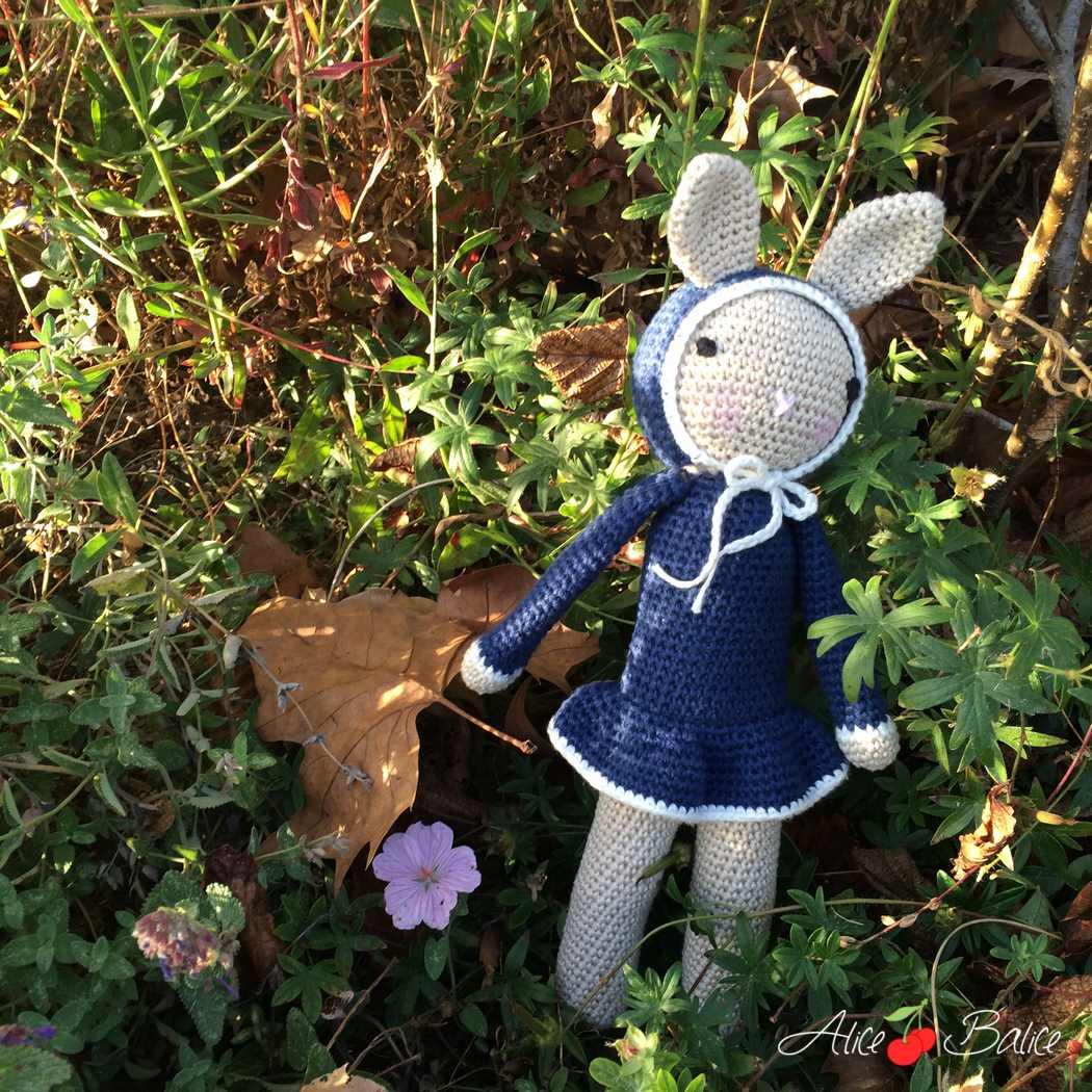 doudou lapin en crochet | diy crochet | tournicote à cloche pieds | rabbit | bébé | cadeau de naissance