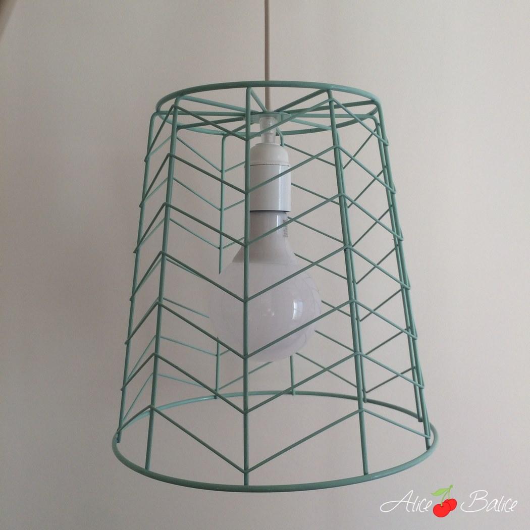 Lampe baladeuse design | tuto DIY gratuit | corbeille à papier | mint