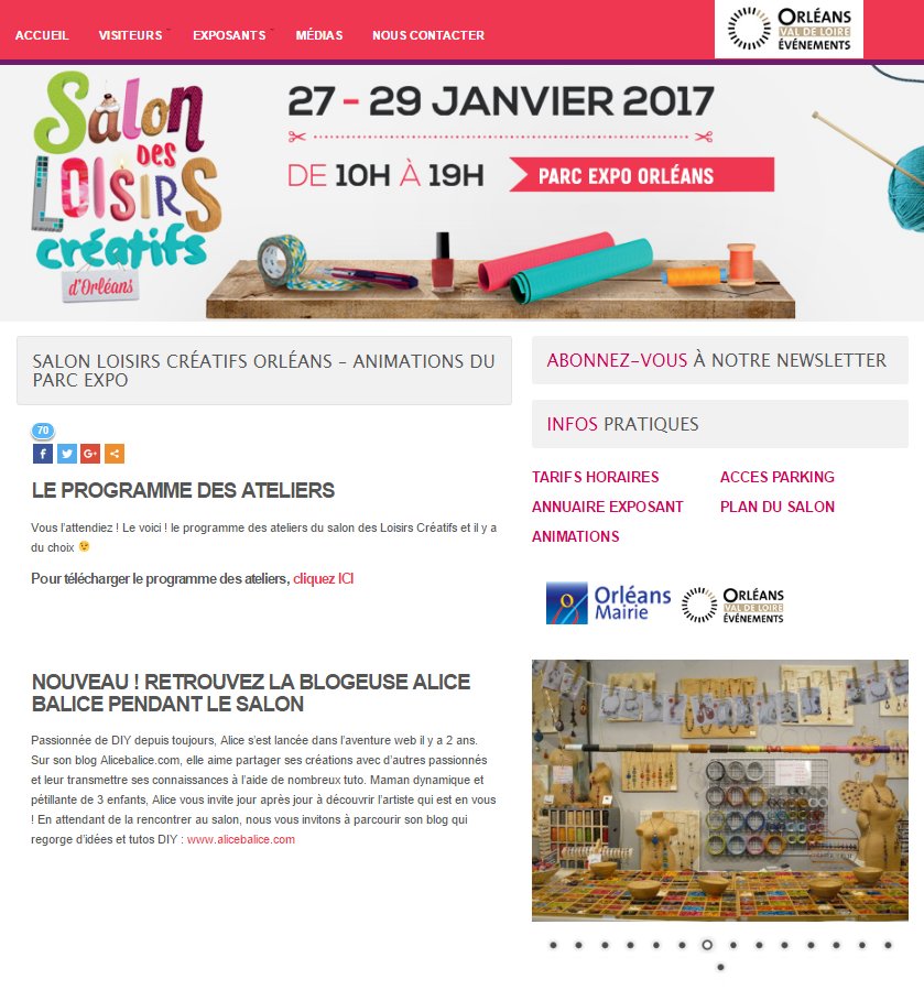 Alicebalice salon loisirs creatifs orleans 2017 alice - Salon loisirs creatifs 2017 paris ...