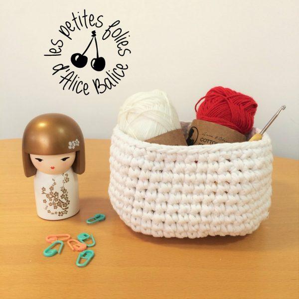 Corbeille en crochet | trapilho | jersey récup | tuto gratuit
