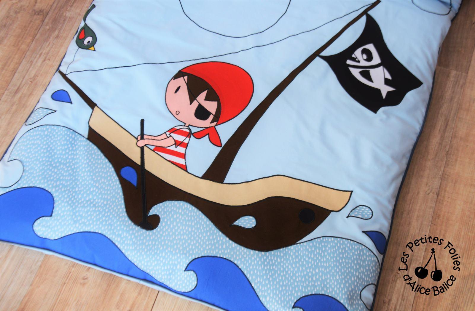 tapis de jeu | pirate | creenfantin | bébé | puériculture | couture