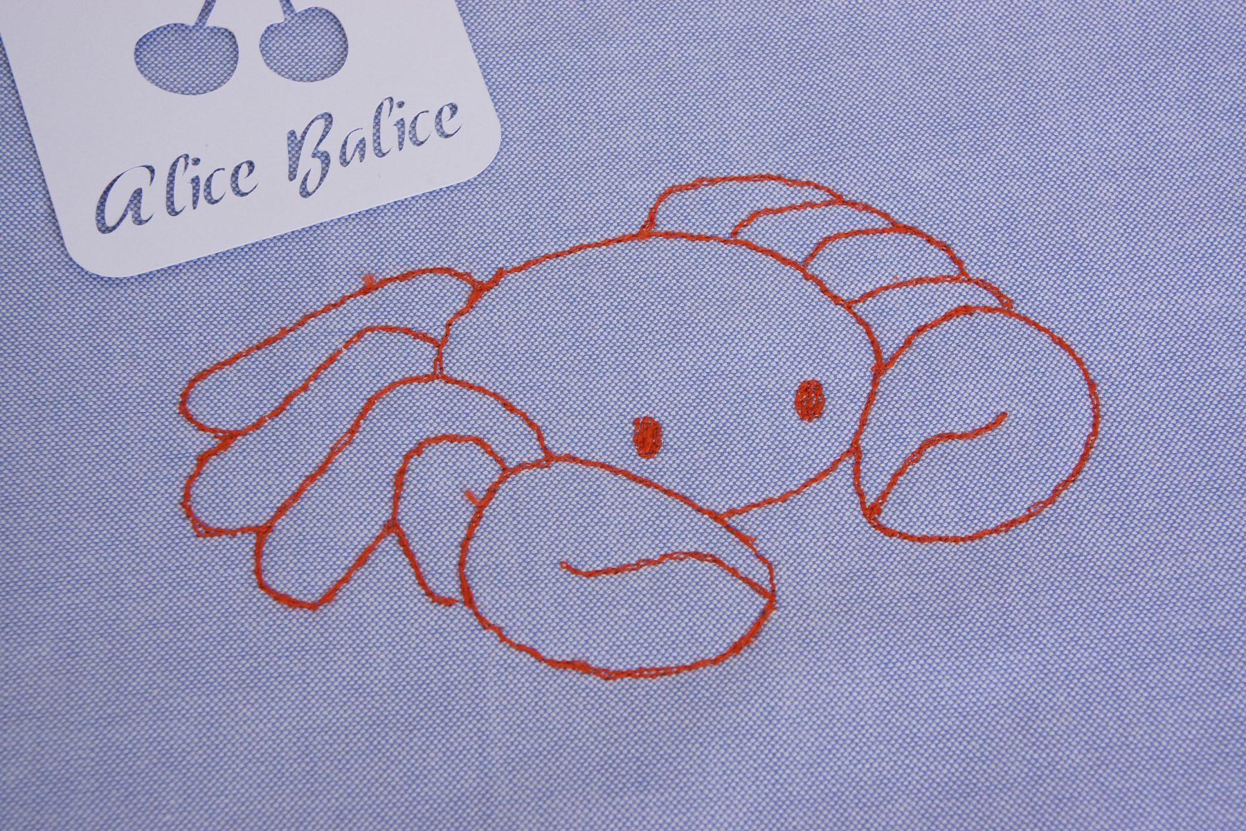 piqué libre | couture | bavoir | crabe | techn ique | couture | sewing