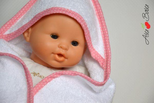 cape de bain pour poupée | patron couture gratuit | sewing | bébé | doll | poupon | trousseau de naissance pour poupée