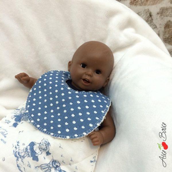 bavoir pour poupée | patron couture gratuit | sewing | bébé | doll | poupon | trousseau de naissance pour poupée