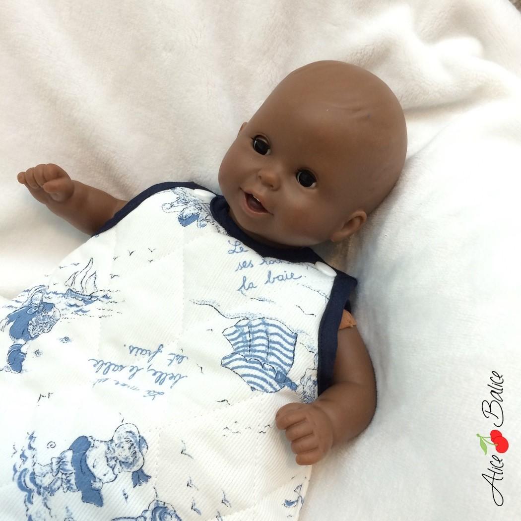 gigoteuse pour poupée | patron couture gratuit | sewing | bébé | doll | poupon | trousseau de naissance pour poupée