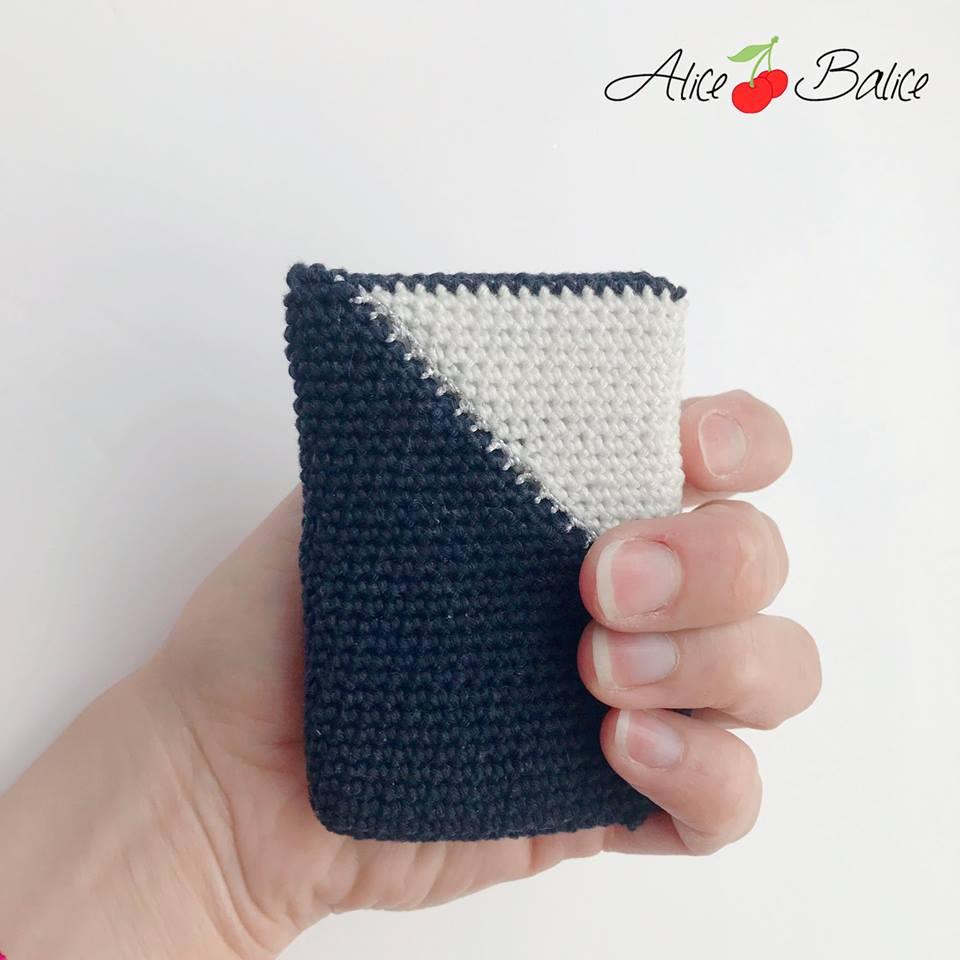 alice balice | pochette cartes de visite | pochette cartes de fidélité | tuto crochet gratuit | patron | diy