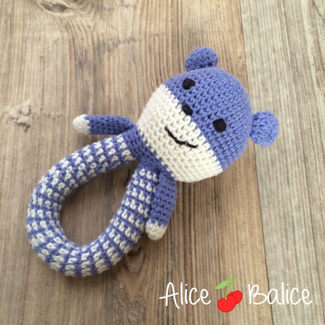 amigurumi | crochet | peluche | hook | cercle magique | ours | ourson | hochet | bébé | puériculture