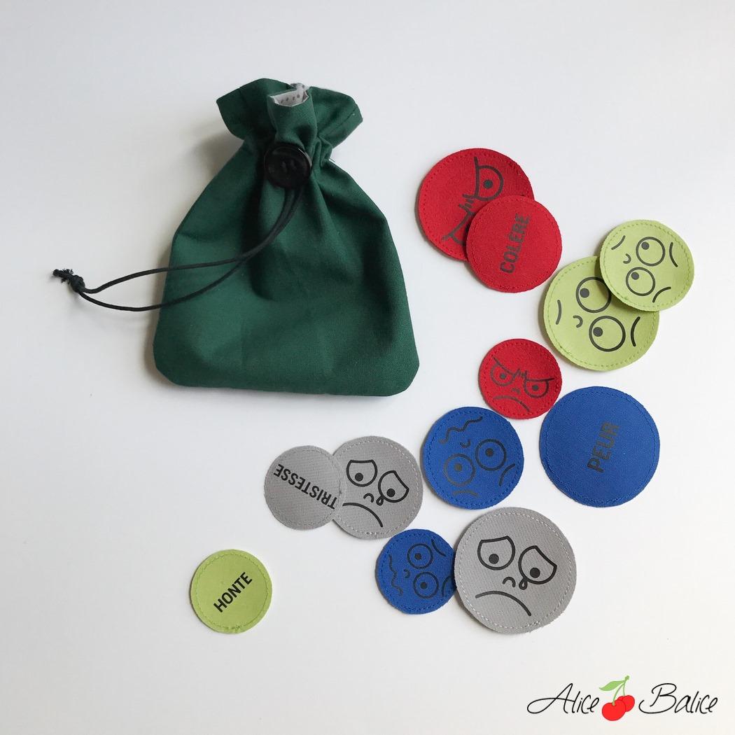 alice balice | mange-problèmes | avale soucis | couture | sewing | patron | tutorial | tutoriel | gestion des émotions | outil pédagogique | pochon à émotions