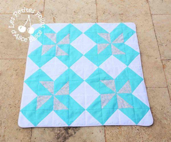 alice balice | couverture qultée | quilting | patchwork | puériculture | cadeau de naissance | trousseau bébé