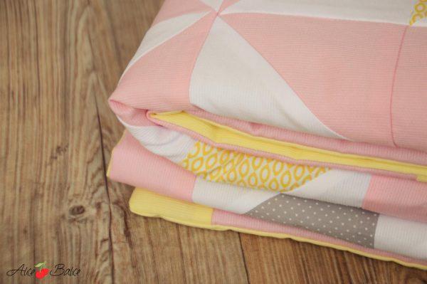 alice balice | couverture quiltée | quilting | patchwork | puériculture | cadeau de naissance | trousseau bébé