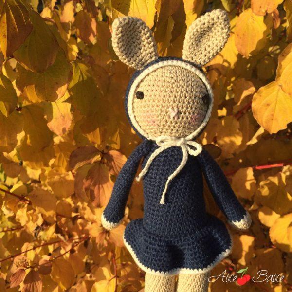 alice balice | crochet | amigurumi | lapin | tournicote à cloche pieds | josephine