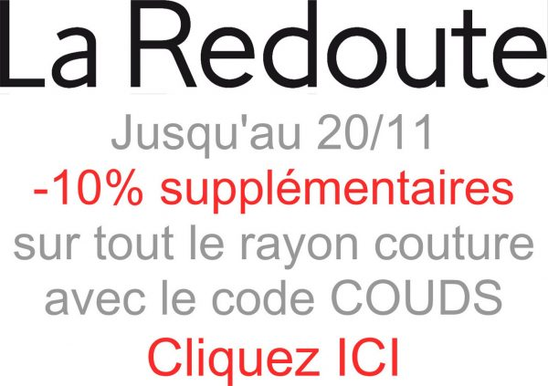 alice balice | code promo | code couds | la redoute | couture | sewing