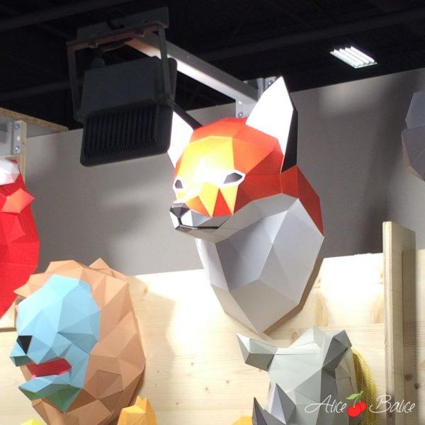 alice balice | salon créations et savoir-faire 2016 | csf | agent paper | origami | renard