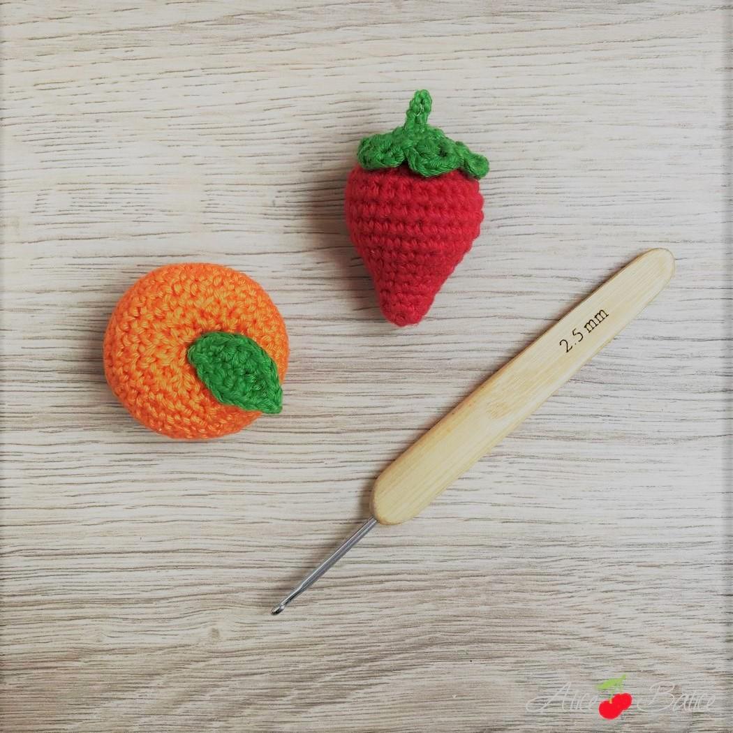 alice balice | clementine et fraise au crochet | tutoriel gratuit | tuto | tutorial