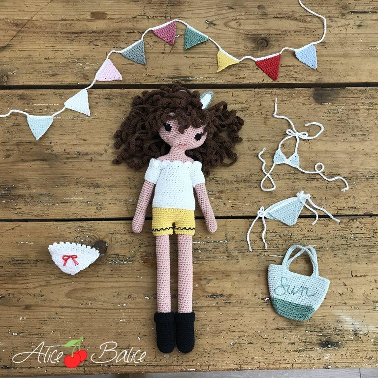 alice balice | tuto crochet | débutante | amigurumi | Clems