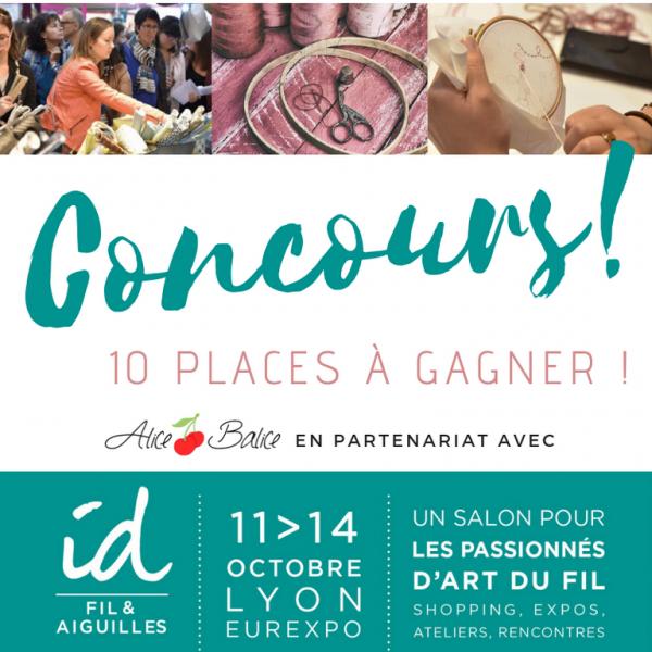 alice balice | concours ID Fils et Aiguilles Lyon 2018 | partenariat | gagnez des places