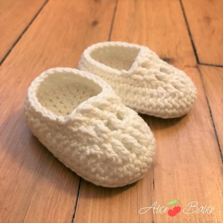 alice balice | tutoriel | crochet | chaussons bébé | nourrisson | cadeau de naissance