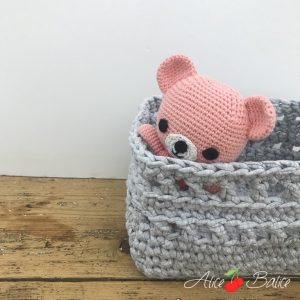 alice balice | crochet | test crochets Clover Amour | corbeille rectangulaire | tutoriel