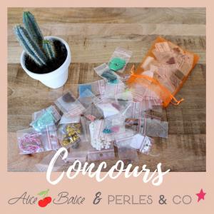 alice balice | concours | partenariat perles and co | pochon surprise