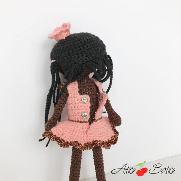 alice balice | tutoriel | crochet | poupée noire | africaine | danseuse | couronne