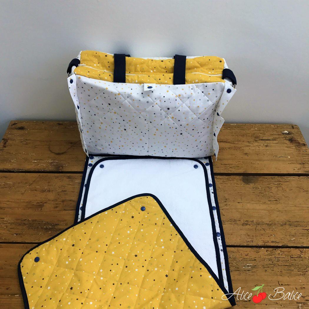 alice balice | sac à langer fétiche | grand | trousseau de naissance | bébé | tapis à langer nomade