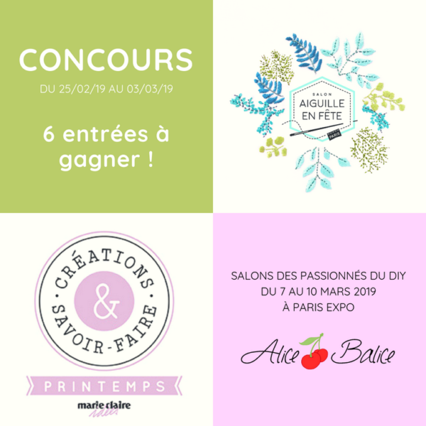 alice balice | concours Aiguille en fête AEF | Créations et Savoir Faire CSF