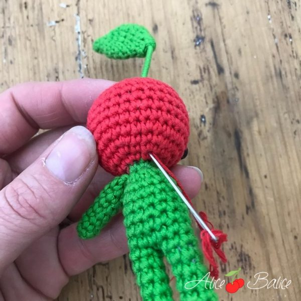 alice balice | tutoriel crochet | bonhomme cerise | cherry little | gratuit